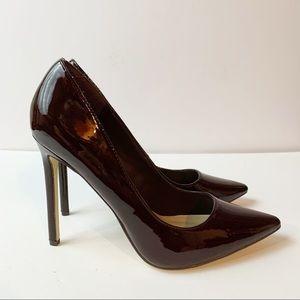 Shoe Dazzle Stiletto Pumps Brown / Burgundy EUC Size 9